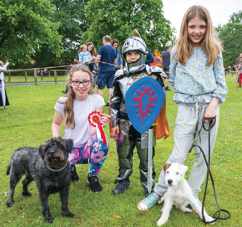 DOG DAYS – a dog show helped entertain the crowds