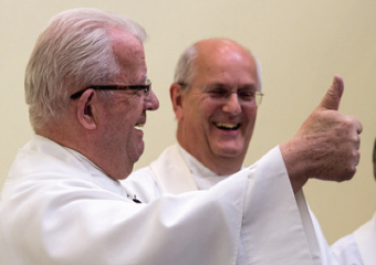 THUMBS UP – the fine Festival Mass service was well received by all those who attended