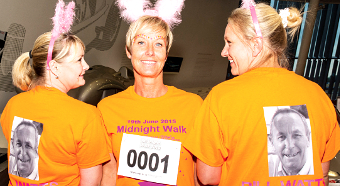 SHE'S THE '1' – Julie Ulvmuen with Karen Lawrence and Kelly Humphries in memory of Julie's dad