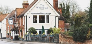 WHITE HART PUB - in Chobham High Street has submitted proposals for an estate gate at the entrance to its rear car park