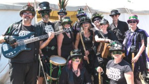 PLAY ON – Black Swan and Box Hill Border Morris Dancers helped provide entertainment
