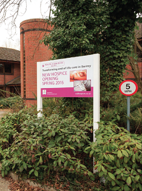 GRAND PLANS – after securing a deal for a new home at Goldsworth House, Woking & Sam Beare Hospices have decided to expand their community services