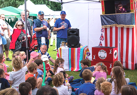 PACKED A PUNCH – busy audiences were in fine voice for the Punch & Judy show