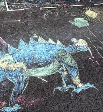 CHALK THE CHALK – the children's impressive pavement designs