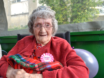 106 TODAY – Kay Hurley enjoys her very  special birthday celebration