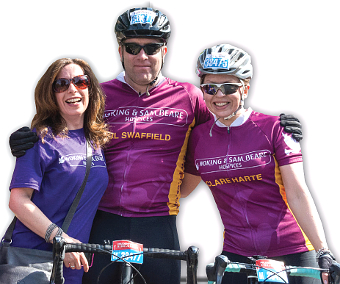 PURPLE POWER – Woking & Sam Beare Hospices were well supported once again